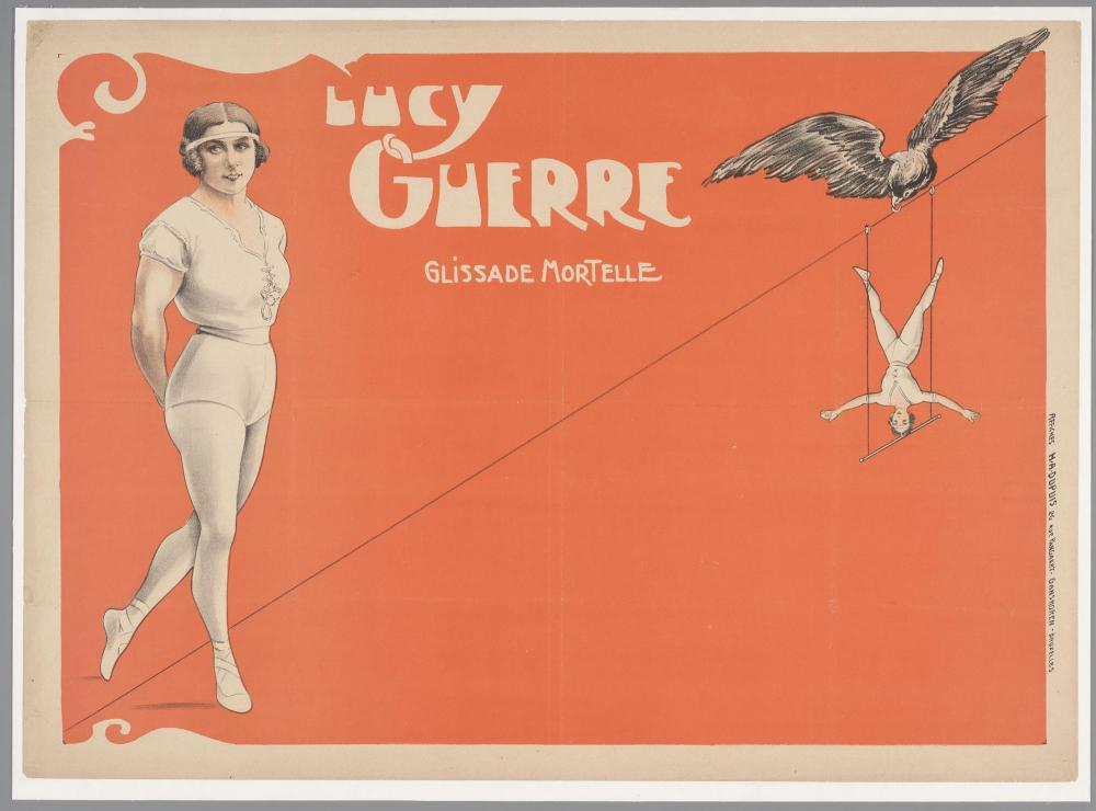 Affiche voor trapezeacrobate Lucy Guerre.
