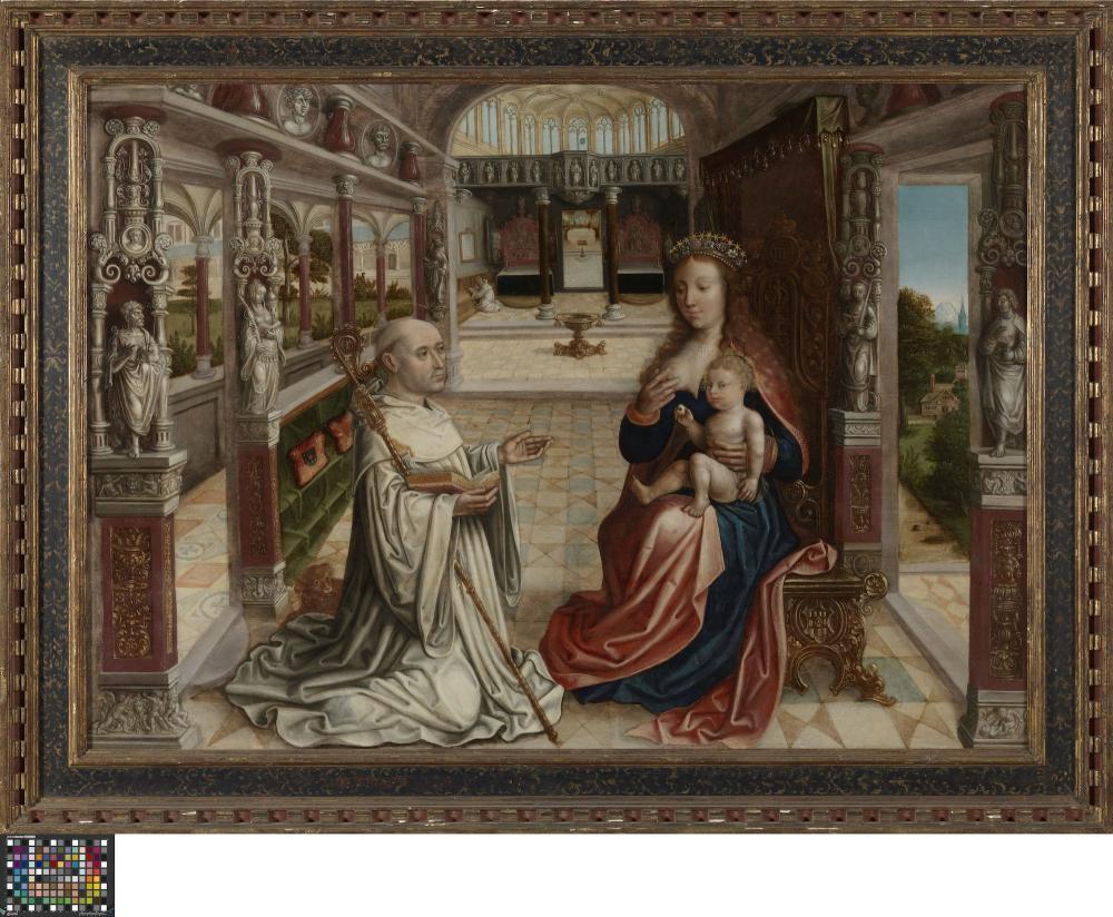Lactatio Van De Heilige Bernardus Van Clairvaux Lukas