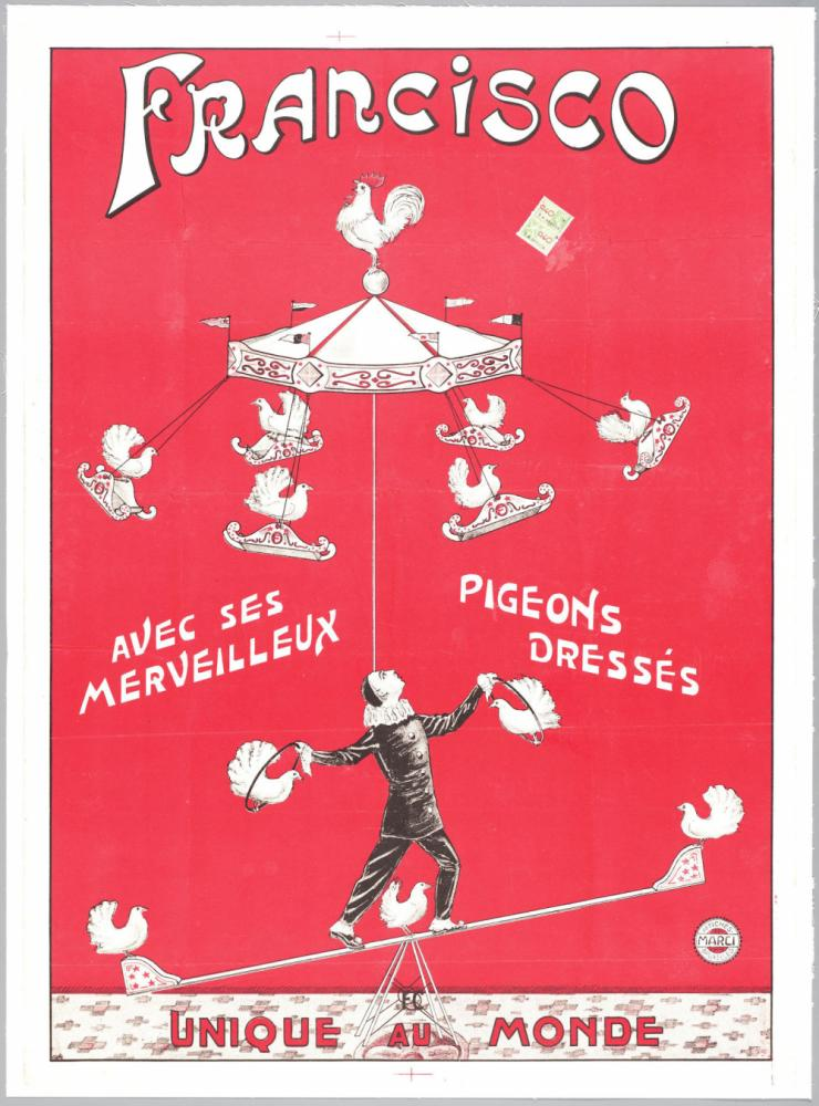 Affiche voor circusartiest Francisco.