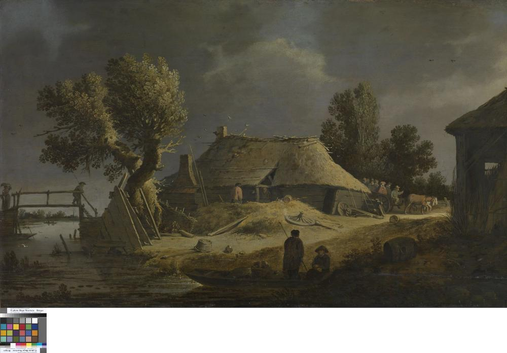 Landscape with farm.