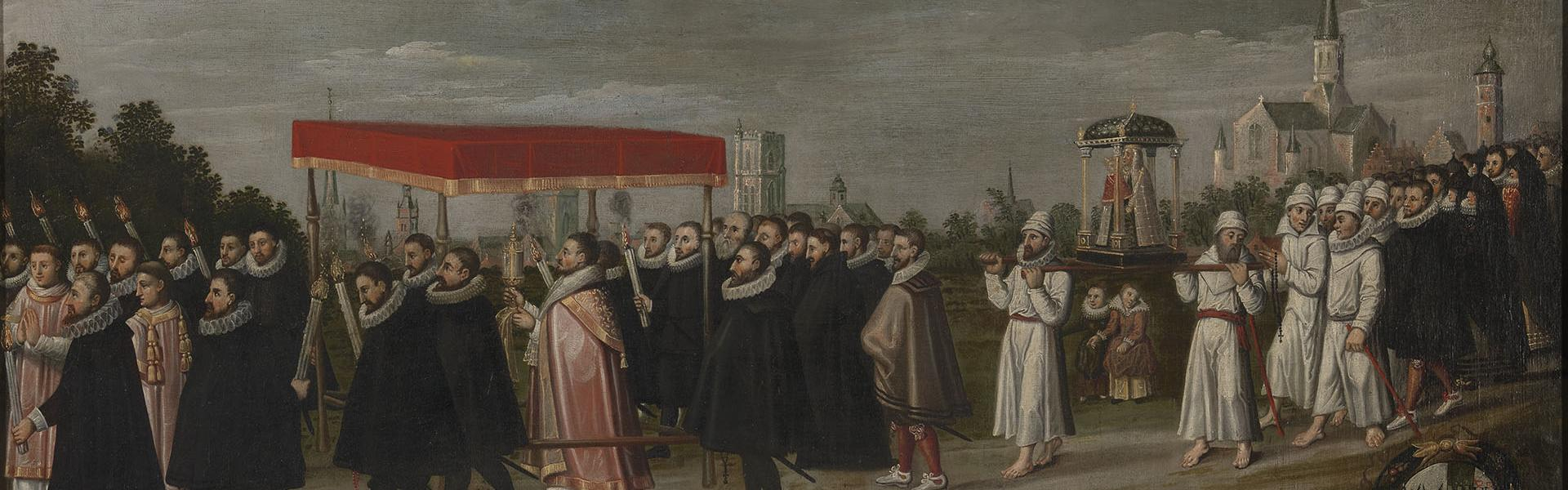 Healing and procession against the plague in 1604