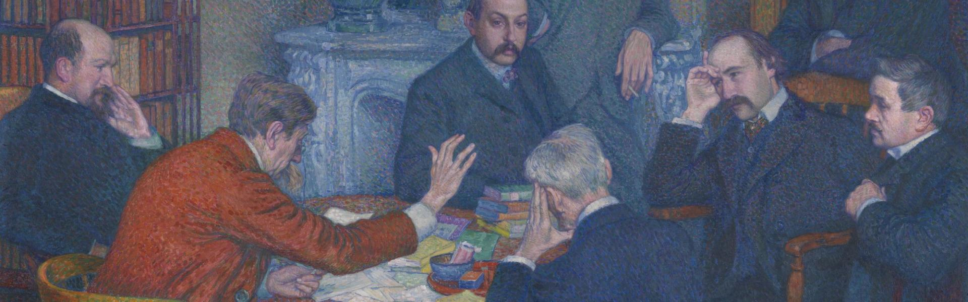 The Lecture by Emile Verhaeren by Theo Van Rysselberghe collection MSK Gent