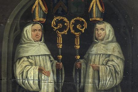 Portraits of counts of Flanders and abbots from the Duinen Abbey
