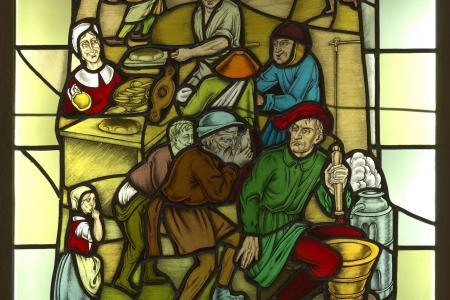 Stained Glass: Flemish Proverb Bakery