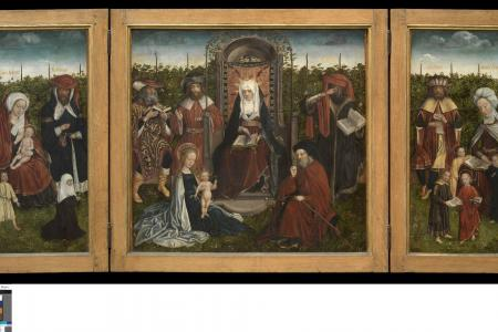 Triptych with the family of the Holy Anna.