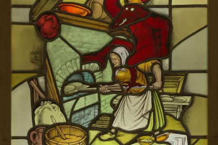 Stained Glass Flemish Proverb Bakery