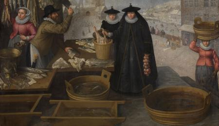 Skeleton Painter in his Studio by James Ensor collection KMSKA